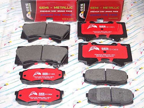 2 Front & Rear Brake Pads LX570 Toyota Land Cruiser Sequoia Tundra D1303 D1304 (Toyota Ebay Cruiser Land)