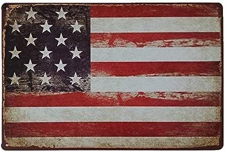 MARQUISE & LOREAN | Placas Decorativas Pared Bandera Americana. Carteles Vintage USA, EEUU: Amazon.es: Hogar