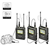 Saramonic Uwmic9 Wireless Lavalier Lapel Microphone System -Includes RX9 Portable Receiver, 2 TX9 Bodypack Transmitter