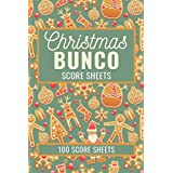Christmas Bunco Score Sheets: 100 Scoring Pads for Bunco Players, Bunco Score Cards, Score Keeper Tracker Game Record Noteboo