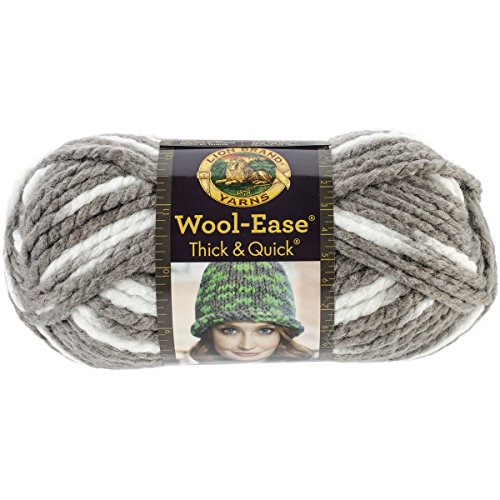 Lion  640-513 Wool-Ease Thick & Quick Yarn , 97 Meters, Seagull