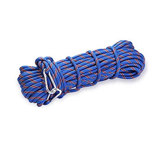 Outdoor Climbing Rope 10M(32ft) 15M(49ft) 20M(64ft) Rock Climbing Rope, Diameter 10mm, Escape Rope Climbing Equipment Fire Rescue Parachute Rope