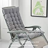 AMZ Microfibre Soft Home Cotton Cushion Long Chair Pad Cushion for Indoor/Outdoor Home Office Garden Decor (Smoke Grey,48 x 16 inches,Set of 1)