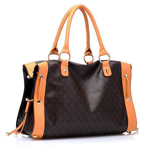 Tote fur Ladies Faux Kiss Hobo Shoulder Color Printed Splicing Soft Fashion Pattern VM Handbag YxwRTEqtnT