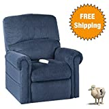 Serta Perfect Lift Chair: This Plush Comfort Recliner w/Gel-Infused Foam Relieves Key Body Pressure Points - Ergonomic LED Hand Control w/USB Port (Ocean 860)