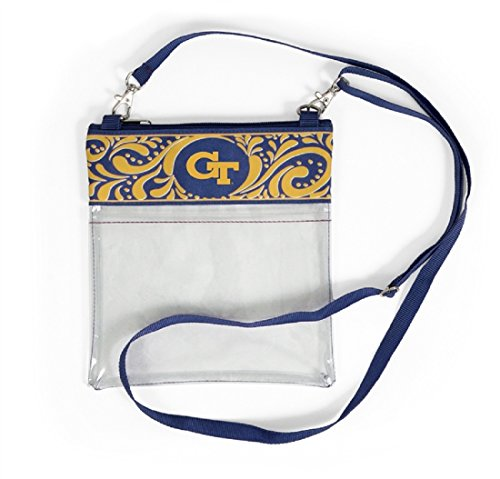 Desden Georgia Tech Yellowjackets Clear Gameday Crossbody Bag by Desden