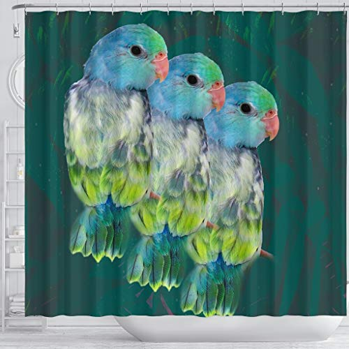 Paws With Attitude Parrotlets Parrot Print Shower Curtains by Paws With Attitude (Image #2)