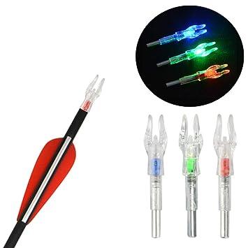 3pcs LED Pfeilnocken 4,2mm Leuchtnocken Beleuchtete Automatische Bogenschießen