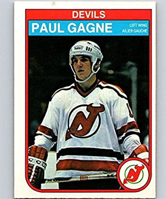 reputable site 210b4 7b8be Amazon.com: 1982-83 O-Pee-Chee #139 Paul Gagne NJ Devils NHL ...