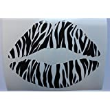 Customize Right 116 Zebra Lips Kiss Car Bumper Sticker