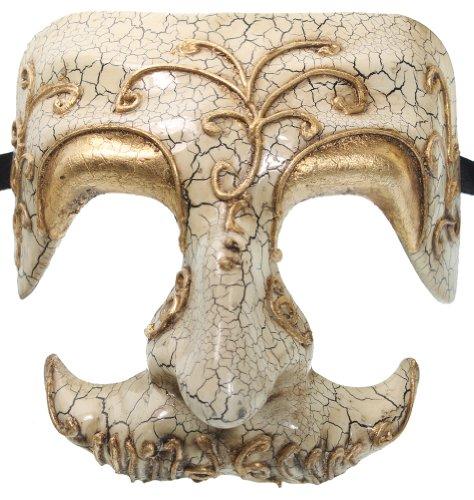 RedSkyTrader Mens Skull Venetian Mask One Size Fits Most White ()