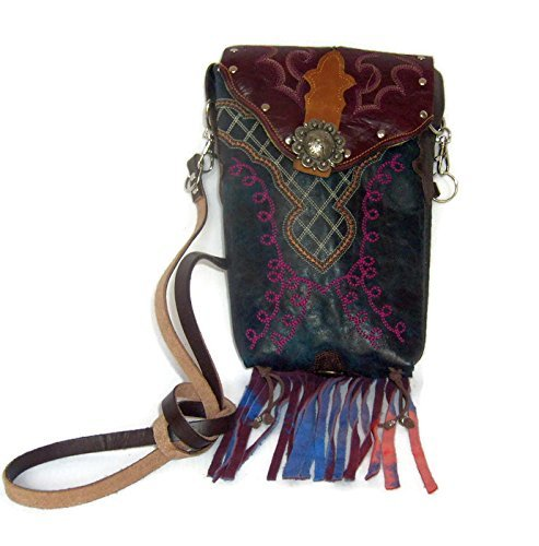 Cowboy Boot Hipster Crossbody Bag with Fringe HP176