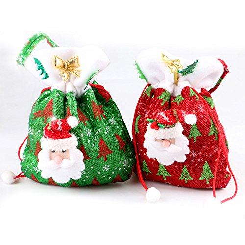 Bolsas con cordón para regalos de navidad. Bolsas para ...