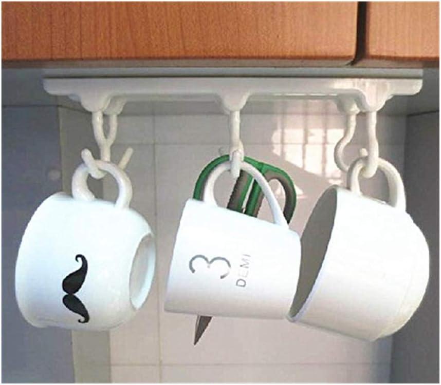 Under Shelf Cabinet Hooks for Butcher Kitchen Rack,Pan Hanger,Hanging Rail