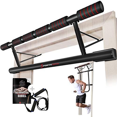 Sportstech uniek combinatiepakket! 4in1-optrekstang incl. Dip Bar & Power Ropes, opvouwbaar deurrek KS500, veilige…