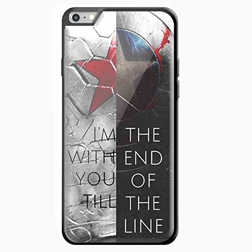 civil war captain america quote for iPhone 6 Plus Black case