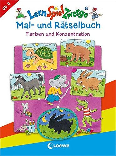 LernSpielZwerge Mal- und Rätselbuch - Farben und Konzentration