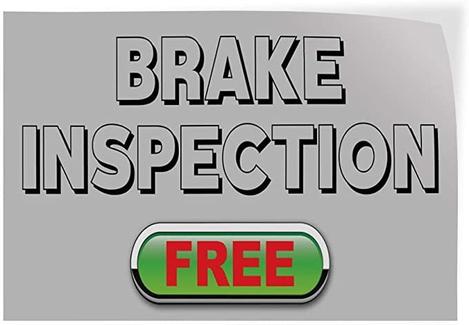 34inx22in Set of 10 Decal Sticker Multiple Sizes Brake Service Black Red Automotive Brake Services Outdoor Store Sign Black
