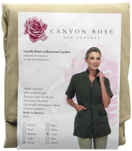 Canyon Rose Esthetician's Tuxedo Front Jacket, Linen, Extra Large