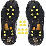 Ice Cleats Snow Grips Anti-Slip Oveshoes Traction Gear for Hiking (X-Large)