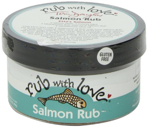 Rub with Love Salmon Rub Seasoning (3.5 oz.) All-Natural Herbs and Spices | Classic Dry Rub for Fish, Chicken, Pork, or Steak | Rich, Smoky ()