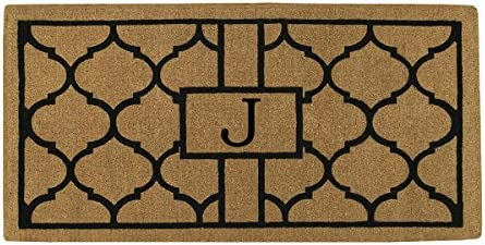 Home More 180083672J Pantera 3 X 6 Extra-Thick Monogrammed Doormat Letter J