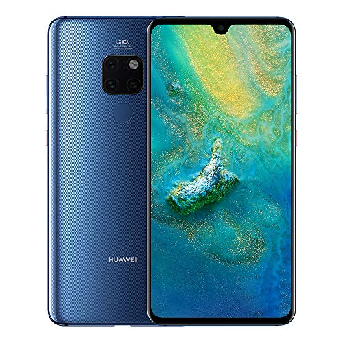 "Huawei Mate 20 (128GB/4GB) 6.53"" FHD+ Display Triple Camera 4000 mAh Battery 4G LTE GSM Dual SIM Global Unlocked (HMA-L29) International Version, Midnight Blue"