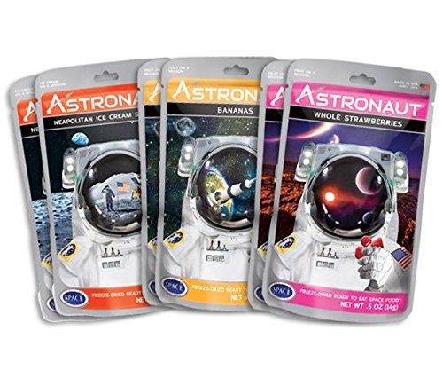 - Astronaut Foods Freeze-Dried Banana Split Variety Pack, NASA Space Dessert, with Ice Cream Sandwich Neapolitan, Banana and Strawberry, 6 Count