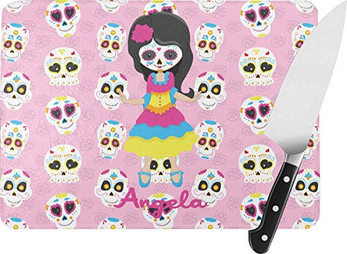 Kids Sugar Skulls Rectangular Glass Cutting
