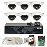 GW Security 8 Channel NVR 5 Megapixel H.265 Security Camera System, 6 Built-In Microphone Audio Recording HD 1920P IP PoE Dome Cameras, QR-Code Connection Review