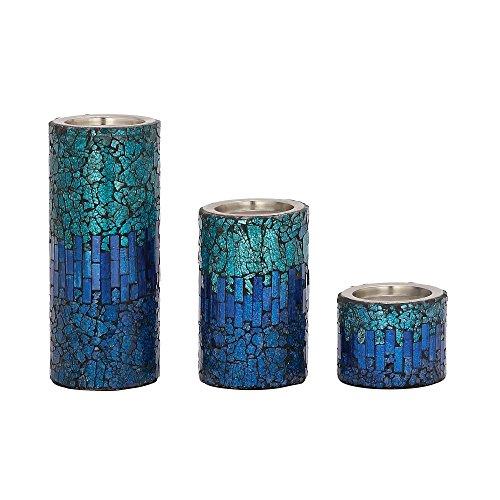Deco 79 42138 Mosaic Candleholder product image