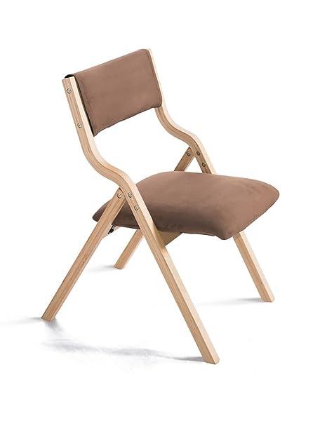 Simple y Moderno Hogar Madera sillas Plegables sillas de ...