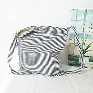 Kaxima Canvas bag single Shoulder diagonal striped messenger bag