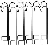 Ashman Shepherd's Hooks, Black, Set of 12 Made of
