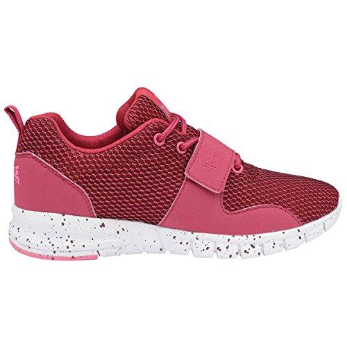 Lonsdale Zapatillas Deportivas Modelo Novas Active con Tira Ajustable Para Mujer Granate/rosa