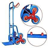 Stair Climber Hand Truck, SOLID FOAM TIRES-440LBS Barrow Hand Truck Bracket Roll Cart Trolley Garden Tool Home Use