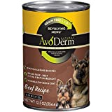 AvoDerm Natural Revolving Menu Beef Recipe Canned Wet Dog Food, 12.5-ounce cans, Case of 12.