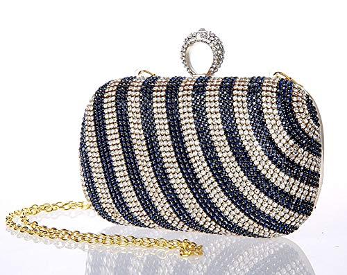 d'autres Exquis de soirée Jours Sac Diamants Et fériés 6x5inch Pochette Soirée Femme Sacs Incrusté soirée 16x13cm de E Bridal Bal Main D de à Mini OzFqwq