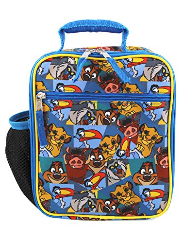 Lions Lunch Box (The Lion King Boy's Girl's Soft Insulated School Lunch Box (Blue, One Size))