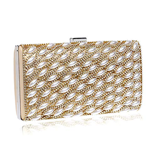 Bag Banquet Fashion Pearl Hand Party Bag Golden Atmosphere Cosmetic Handbag Drill JUZHIJIA Luxurious Evening Nightclub wqYfxO1gg