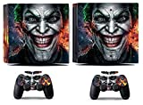 MightyStickers - Joker Smile Clown PS4 Pro Console Wrap Cover Skins Vinyl Sticker Decal Protective for Sony PlayStation 4 Pro & Controller