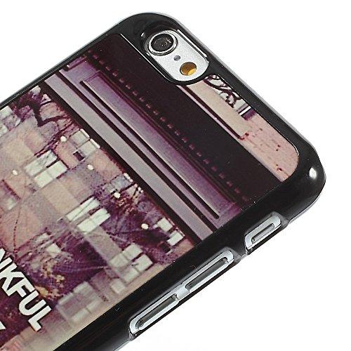 "Apple iPhone 6/6S Étui Housse Case ""I AM Than kful for Today decui Multicolore Plastique rigide Coque"