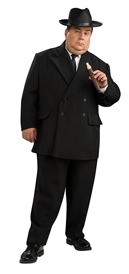 1930s Men's Costumes: Gangster, Clyde Barrow, Mummy, Dracula, Frankenstein Rubies Pinstripe Gangster Suit Plus Size Halloween Costume $55.58 AT vintagedancer.com