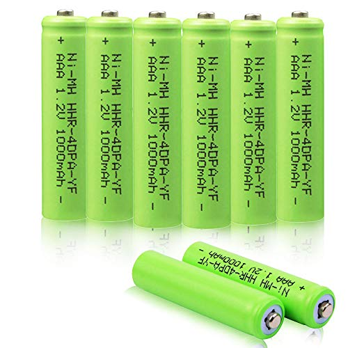 sonic, VANON 1000mAh HHR-4DPA Replacement Battery for Panasonic, 1.2V Ni-MH Rechargeable Cordless Phone Battery, Pack of 8 ()