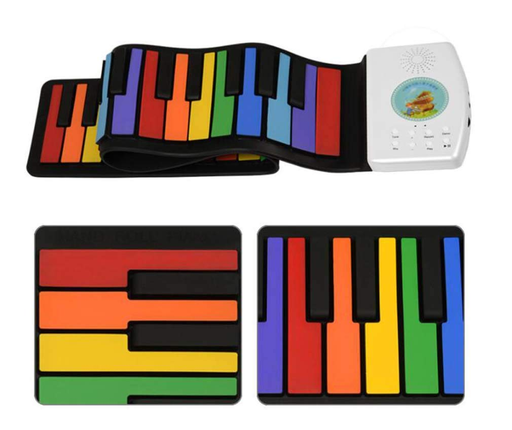 CE-LXYYD 49-Key Folding Piano, Thick Waterproof and Rechargeable Portable Color Electronic Piano, Suitable for Beginners, Best Gift for Children,Color by CE-LXYYD (Image #4)