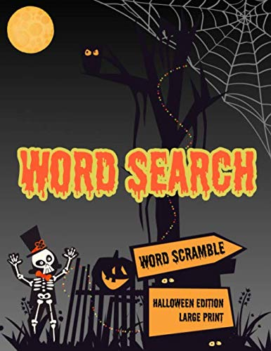 Games For 4th Grade Halloween Party (Word Search: Halloween Holiday Edition Puzzle Game Activity Book With Word Scramble Large Print Size Haunting Scary Ghoul Theme Design)