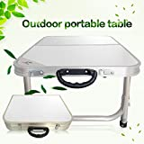 Green Camping BBQ Aluminum Portable Folding Table Chairs Foldable Desk and 2pcs Chairs