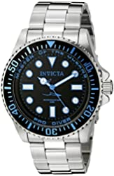 Invicta Men's 20122 Pro Diver Analog Display Swiss Quartz Silver Watch