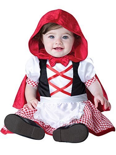 InCharacter Costumes Baby Girls' Little Red Riding Hood Costume, Red/White, Medium