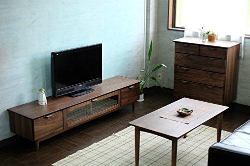 ISSEIKIテレビボードTVボードミディアムブラウン幅180cmウォルナットの美しいデザイン木製家具大型開梱設置便【VE-08-8】